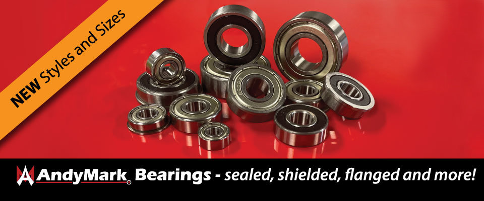AndyMark: New Bearing Styles and Sizes