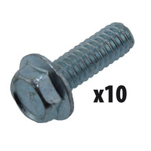 1/4-20 x 3/4 in. Hex Flange Screw, Qty. 10