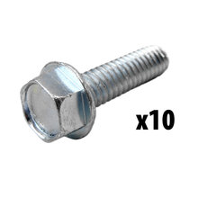 1/4-20x1 Thread Rolling Screw, Hex Washer Head [Qty-10]