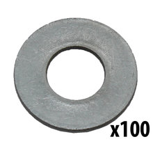 1/4 in. Flat Washer, Stainless Steel [Qty-100]