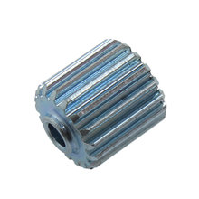 17 Tooth 0.6 Module 0.125 in. Round Bore Steel Pinion Gear