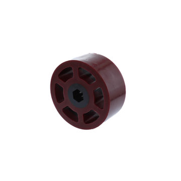 View larger image of 2.25 in. HD Compliant Wheel, 3/8 in. Hex Bore, 45A Durometer