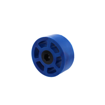View larger image of 2.25 in. HD Compliant Wheel, 3/8 in. Hex Bore, Blue 50A Durometer