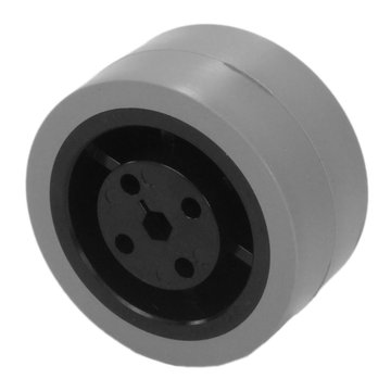 View larger image of 2 in. Stealth Wheel 5 mm Hex Gray 80 Durometer