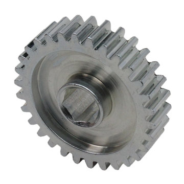 View larger image of 30 Tooth 20 DP 0.375 in. Hex Bore Steel Gear with Pocketing