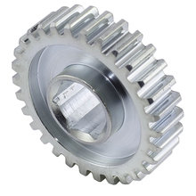 30 Tooth 20 DP 0.5 in. Hex Bore Steel Gear with Pocketing
