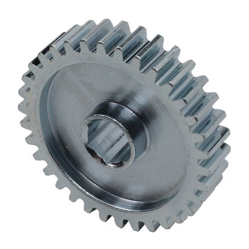 View larger image of 34 Tooth 20 DP 0.375 in. Hex Bore Steel Gear with Pocketing
