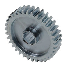 34 Tooth 20 DP 0.375 in. Hex Bore Steel Gear with Pocketing