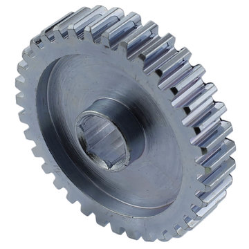 View larger image of 35 Tooth 20 DP 0.375 in. Hex Bore Steel Gear with Pocketing