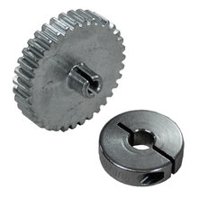 35 Tooth 32 DP 0.125 in. Round Bore Steel Pinion Gear with 6 mm Collar Clamp for NeveRest
