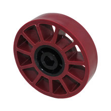 4 in. Compliant Wheel, 1/2 in. Hex Bore, 45A Durometer