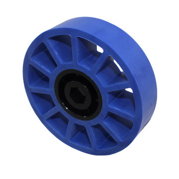View larger image of 4 in. Compliant Wheel, 1/2 in. Hex Bore, 50A Durometer