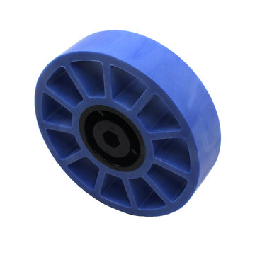 View larger image of 4 in. Compliant Wheel, 3/8 in. Hex Bore, 50A Durometer