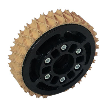 View larger image of 4 in. Plaction Wheel with Wedgetop Tread