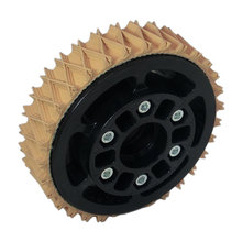 4 in. Plaction Wheel with Wedgetop Tread
