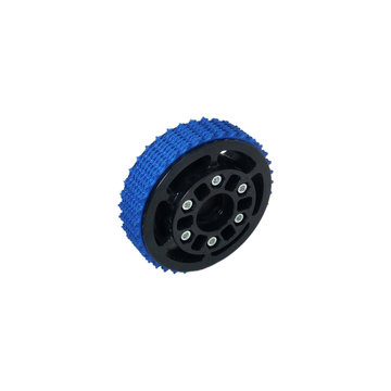 View larger image of 4 in. Plaction Wheel with Blue Nitrile Tread