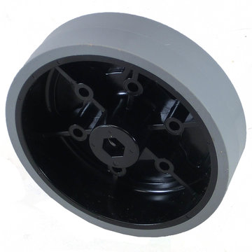 View larger image of 4 in. Stealth Wheel, 3/8 in. Hex Bore, 80A Durometer