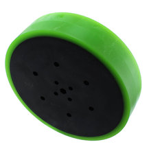 4 in. Stealth Wheel with 5 mm Hex Bore, Green 35 Durometer