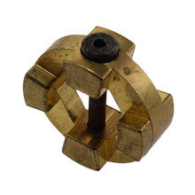 4 Tooth 0.5 in. Hex Bore Bronze Dog Gear