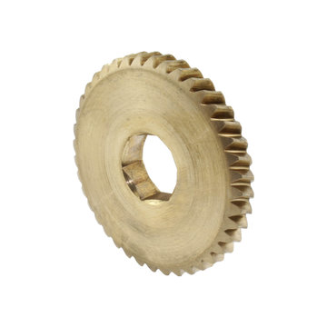View larger image of 40 Tooth 25 PA 0.5 in. Hex Bore Bronze Driven Worm Gear for RAW box