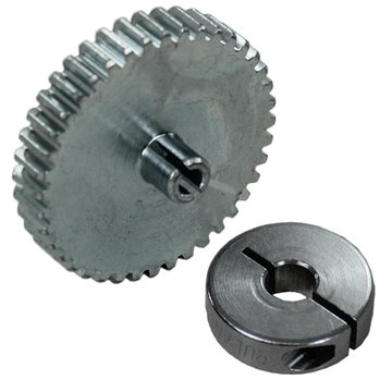 View larger image of 40 Tooth 32 DP 0.125 in. Round Bore Steel Pinion Gear with 6 mm Collar Clamp for NeveRest