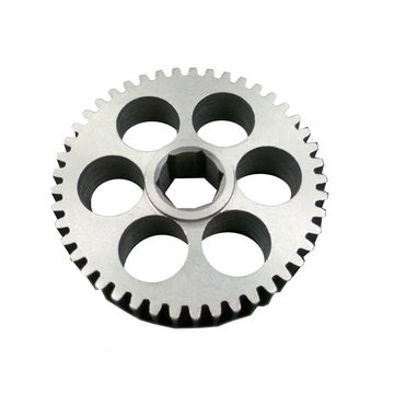 View larger image of 45 Tooth 20 DP 0.5 in. Hex Bore Steel Gear with Thru Holes