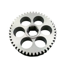 45 Tooth 20 DP 0.5 in. Hex Bore Steel Gear with Thru Holes
