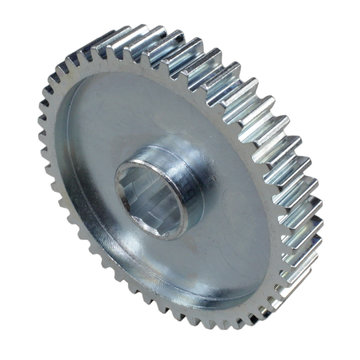 View larger image of 46 Tooth 20 DP 0.5 in. Hex Bore Steel Gear with Pocketing