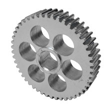 48 Tooth 20 DP 0.5 in. Hex Bore Steel Gear with Thru Holes