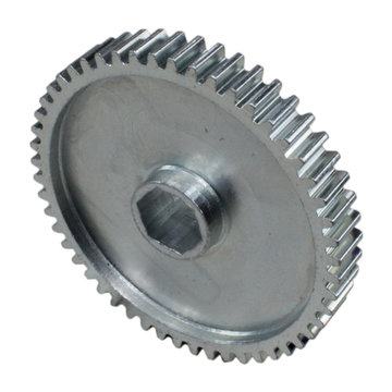 View larger image of 52 Tooth 20 DP 0.5 in. Hex Bore Steel Gear with Pocketing
