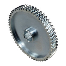 56 Tooth 20 DP 0.5 in. Hex Bore Steel Gear with Pocketing