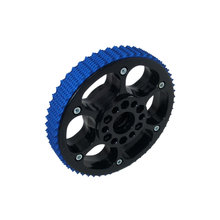 6 in. Plaction Wheel with Blue Nitrile Tread