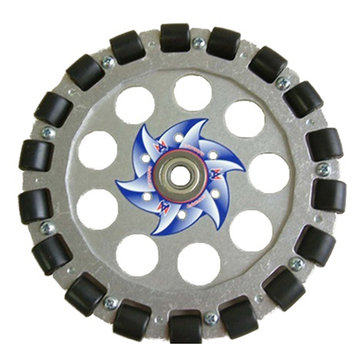 View larger image of 8 in. Aluminum Omni Wheel w/ 1/2 in. Bearing