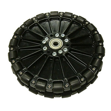 View larger image of 8 in. Dualie Plastic Omni Wheel w/ 3/8 in. Bearings