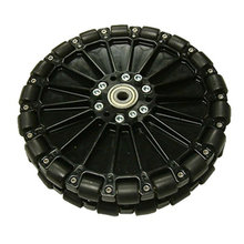 8 in. Dualie Plastic Omni Wheel w/ 3/8 in. Bearings