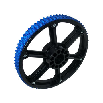 View larger image of 8 in. Plaction Wheel with Blue Nitrile Tread