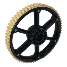 8 in. Plaction Wheel with Wedgetop Tread