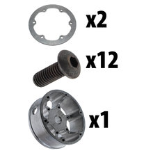 8 in. HD Pneumatic Wheel Hub Assembly 0.5 in. Hex Bore