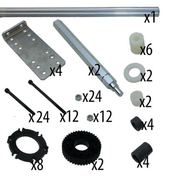 View larger image of AM14U3 Upgrade Kit for 6WD 8 in. Pneumatic Wheels, no wheels or belts