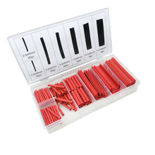 Assorted Heat Shrink Tubing Kit Red 127 Pieces