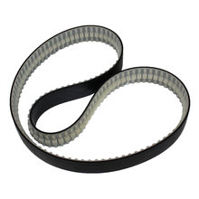 Black Flat Urethane Track Timing Belt Tread