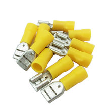 Connector, Female, 12-10 AWG, Tab .032 in.x.250 in., Yellow, Qty 10