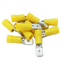 10-12 AWG Yellow Male Tab Connector