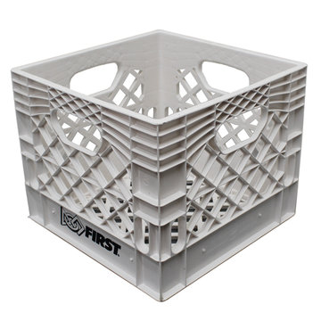 "View larger image of Farm Plast White 13"" x 13"" x 11"" Milk Crate"
