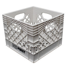 "Farm Plast White 13"" x 13"" x 11"" Milk Crate"