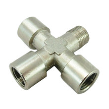Fitting, Cross, Brass, 1/8 in. NPT, 3 F, 1 M