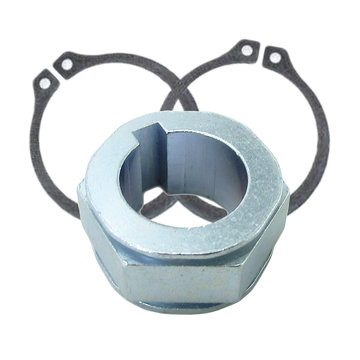 View larger image of Flexhub, 1/2 in. Round Bore, 1/8 in. Key