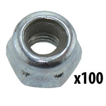 M3 Nylock Nut, Steel [Qty-100]