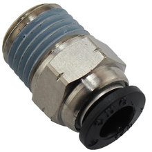 Pneumatic fitting, straight, 1/4 in. tube, press-in, 1/4 in. NPT male