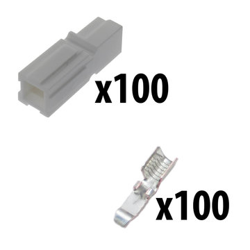 View larger image of Powerpole Kit 100 White Housing 100 Contacts